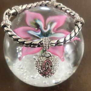 Brighton Breast Cancer Pink Ribbon Bracelet